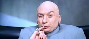 "Dr Evil utters his famous line, ""One million dollars."""