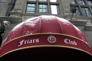 A view of New York's famous Friars Club