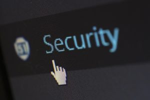 LED readout saying Security to represent the importance of cybersecurity for insurance brokers.